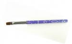 Gel brush # 6 folded with cubic zirconia mix- violet