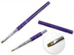 Brush for gel with zircons - purple #6