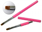 Brush for gel with zircons - pink #4