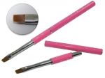 Brush for gel with zircons - pink #6
