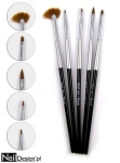 Nail Art set with 5x nail art brushes Black 05