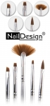 Nail Art Kit with 5x nail art brushes Silver 05