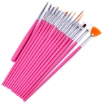 Professional Gel Nail Art Brush Set 15 Piece pink