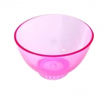 Rubber bowl, silicone for masks, algae - transparent pink size M