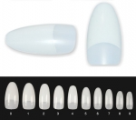 Natural Oval Nail Tips with Overlap 500pcs in bag - milk