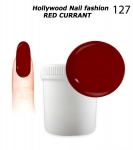 NEW GEL Polish - Soak Off 1000ml - Hollywood Nail fashion - Red Currant (127) Medium Viskos