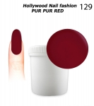 NEW GEL Polish - Soak Off 1000ml - Hollywood Nail fashion - Pur Pur Red (129) Medium Viskos