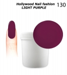 NEW GEL Polish - Soak Off 1000ml - Hollywood Nail fashion - Light Purple (130) Medium Viskos