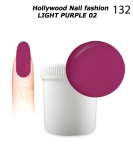 NEW GEL Polish - Soak Off 1000ml - Hollywood Nail fashion - Light Purple 02 (132) Medium Viskos