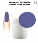 NEW GEL Polish - Soak Off 1000ml - Hollywood Nail fashion - Pastel Dark Purple (135) Medium Viskos
