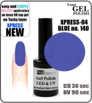 GEL Polish - Soak Off 12ml XPRESS-04 BLUE (140) Medium Viskos