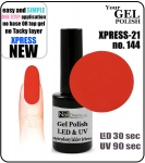 GEL Polish - Soak Off 12ml XPRESS-21 ORANGE (144) Medium Viskos