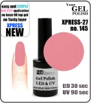 GEL Polish - Soak Off 12ml XPRESS-27 ROSE (145) Medium Viskos