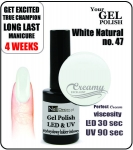 Żel Hybrydowy - GEL Polish 15ml - soak off - White pistacja (no. 47)