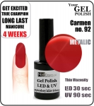Żel Hybrydowy - GEL Polish 15ml - soak off - Carmen (no. 92)