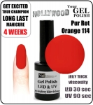 Żel Hybrydowy - Gel Polish - Soak Off 15ml - Pur Rot Orange (no. 114)