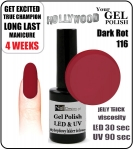 Żel Hybrydowy - GEL Polish 15ml - soak off - Dark Rot (no. 116)