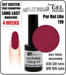 Żel Hybrydowy - GEL Polish - Soak Off 15ml - Pur Rot Lila (no. 119)