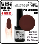 Żel Hybrydowy - GEL Polish - Soak Off 8ml - Pur Chestnut (no. 120)