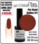 Żel Hybrydowy - GEL Polish - Soak Off 15ml - Pur Iland Coffee (no. 121)