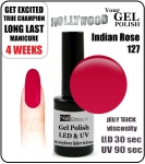 Żel Hybrydowy - GEL Polish 15ml - soak off - Red Currant (no. 127)
