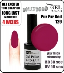 Żel Hybrydowy - GEL Polish 15ml - soak off - Pur Pur Red (no. 129)