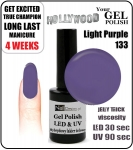 Żel Hybrydowy - GEL Polish 15ml - soak off - Light Purple 05 (no. 133) autumn