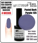 GEL Polish 8ml - soak off - Pastel Dark Purple (no. 135)