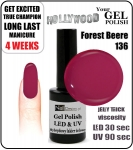 Żel Hybrydowy - GEL Polish 15ml - soak off - Forest Beere (no. 136)