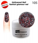 Żel Hybrydowy GEL Polish - Soak Off 5ml - Hollywood Nail fashion - glamour red (105)