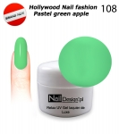 GEL Polish - Soak Off 5ml - Hollywood Nail fashion - Pastel green apple (108) Medium Viskos