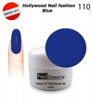 GEL Polish - Soak Off 5ml - Hollywood Nail fashion - Blue (110) Medium Viskos