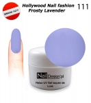 Żel Hybrydowy - Soak Off 5ml - Hollywood Nail fashion - Frosty Lavender (111) średnio-gęsty