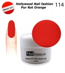 Żel Hybrydowy - Soak Off 5ml - Hollywood Nail fashion - Pur Rot Orange (114) średnio-gęsty