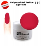 GEL Polish - Soak Off 5ml - Hollywood Nail fashion - Light Red (115) Medium Viskos