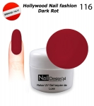 Żel Hybrydowy - Soak Off 5ml - Hollywood Nail fashion - Dark Rot (116) średnio-gęsty