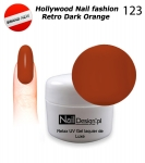 GEL Polish - Soak Off 5ml - Hollywood Nail fashion - Retro Dark Orange (123) Medium Viskos
