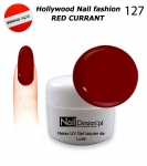 NEW GEL Polish - Soak Off 5ml - Hollywood Nail fashion - Red Currant (127) Medium Viskos