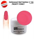 NEW GEL Polish - Soak Off 5ml - Hollywood Nail fashion - Frosty Pinky (128) Medium Viskos