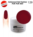 NEW GEL Polish - Soak Off 5ml - Hollywood Nail fashion - Pur Pur Red (129) Medium Viskos