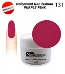 NEW Żel Hybrydowy - Soak Off 5ml - Hollywood Nail fashion - Purple Pink (131) średnio-gęsty