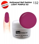 NEW GEL Polish - Soak Off 5ml - Hollywood Nail fashion - Light Purple 02 (132) Medium Viskos