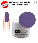 NEW GEL Polish - Soak Off 5ml - Hollywood Nail fashion - Light Purple 05 (133) Medium Viskos