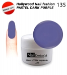 NEW GEL Polish - Soak Off 5ml - Hollywood Nail fashion - Pastel Dark Purple (135) Medium Viskos