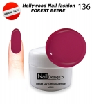 NEW GEL Polish - Soak Off 5ml - Hollywood Nail fashion - Forest Beere (136) Medium Viskos