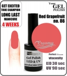 Żel Hybrydowy - GEL Polish 15ml - soak off - red grapefruit (no. 86)