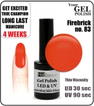 Żel Hybrydowy - GEL Polish 15ml - soak off - fire brick (no. 83)