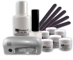 Relax UV Gel Kit laquier Gel Polish de Luxe + Lampe LED UV 3W (Silver)