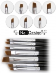 Nail Art 7 brushes set with black