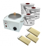 Set Multi-functional wax heater + 10 x wax 400 ml + 10 x wax 100 ml